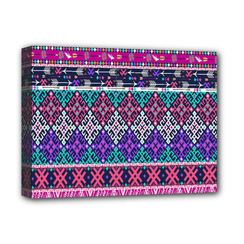 Tribal Seamless Aztec Pattern Deluxe Canvas 16  X 12