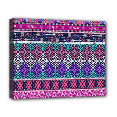 Tribal Seamless Aztec Pattern Deluxe Canvas 20  X 16