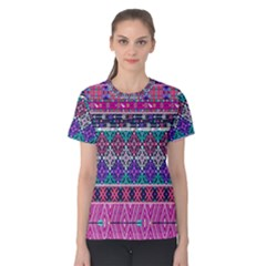 Tribal Seamless Aztec Pattern Women s Cotton Tee