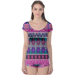 Tribal Seamless Aztec Pattern Boyleg Leotard