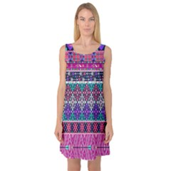 Tribal Seamless Aztec Pattern Sleeveless Satin Nightdress