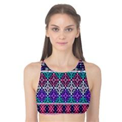 Tribal Seamless Aztec Pattern Tank Bikini Top