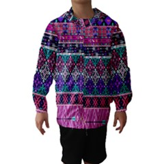 Tribal Seamless Aztec Pattern Hooded Wind Breaker (kids)