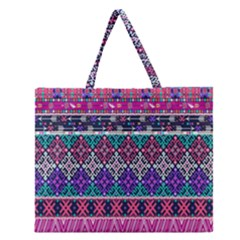 Tribal Seamless Aztec Pattern Zipper Large Tote Bag