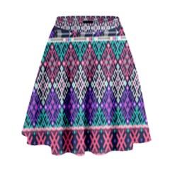 Tribal Seamless Aztec Pattern High Waist Skirt