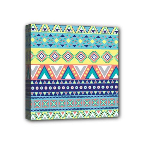 Tribal Print Mini Canvas 4  X 4