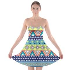 Tribal Print Strapless Bra Top Dress