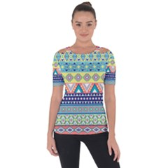 Tribal Print Short Sleeve Top