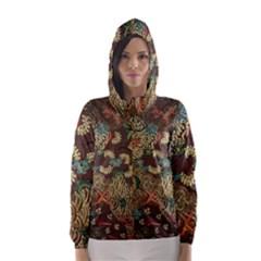 Traditional Batik Art Pattern Hooded Wind Breaker (women)