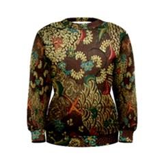 Traditional Batik Art Pattern Women s Sweatshirt