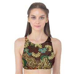 Traditional Batik Art Pattern Tank Bikini Top