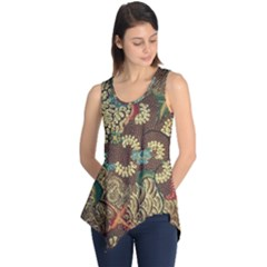 Traditional Batik Art Pattern Sleeveless Tunic