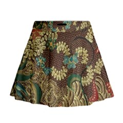 Traditional Batik Art Pattern Mini Flare Skirt