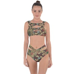 Traditional Batik Art Pattern Bandaged Up Bikini Set