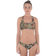 Traditional Batik Art Pattern Cross Back Hipster Bikini Set