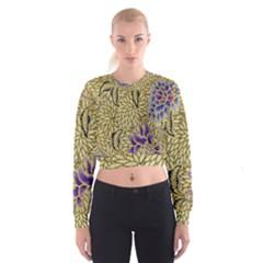 Traditional Art Batik Pattern Cropped Sweatshirt