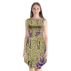 Traditional Art Batik Pattern Sleeveless Chiffon Dress