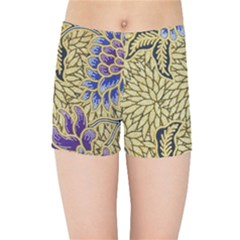 Traditional Art Batik Pattern Kids Sports Shorts