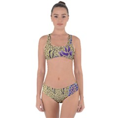 Traditional Art Batik Pattern Criss Cross Bikini Set