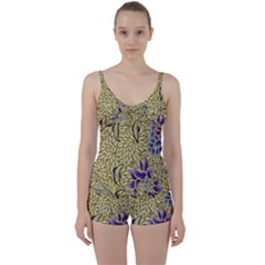 Traditional Art Batik Pattern Tie Front Two Piece Tankini