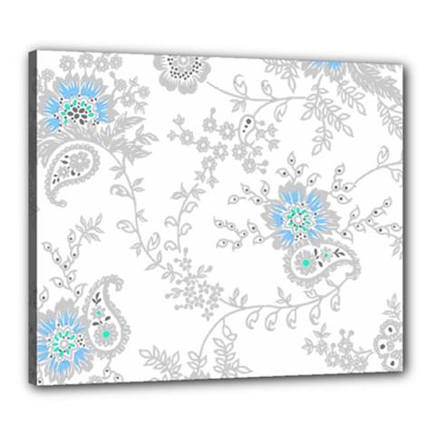 Traditional Art Batik Flower Pattern Canvas 24  X 20