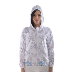 Traditional Art Batik Flower Pattern Hooded Wind Breaker (women)