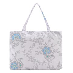 Traditional Art Batik Flower Pattern Medium Tote Bag
