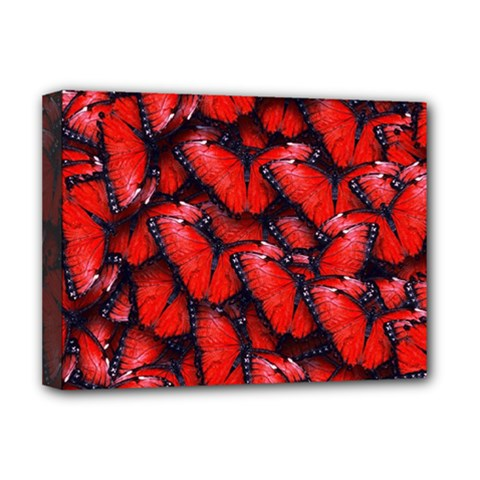 The Red Butterflies Sticking Together In The Nature Deluxe Canvas 16  X 12