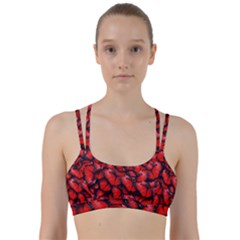 The Red Butterflies Sticking Together In The Nature Line Them Up Sports Bra
