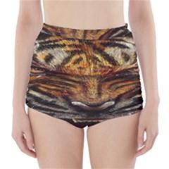 Tiger Face High Waisted Bikini Bottoms