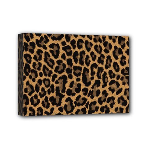 Tiger Skin Art Pattern Mini Canvas 7  X 5
