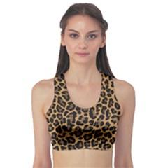 Tiger Skin Art Pattern Sports Bra