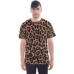 Tiger Skin Art Pattern Men s Sports Mesh Tee