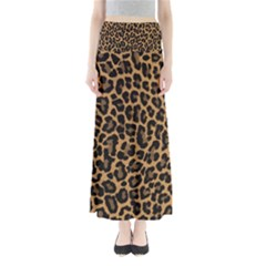Tiger Skin Art Pattern Full Length Maxi Skirt