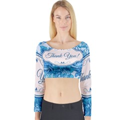 Thank You Long Sleeve Crop Top