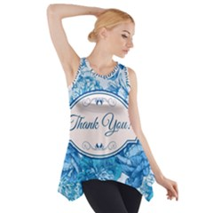 Thank You Side Drop Tank Tunic