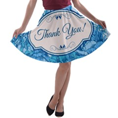 Thank You A Line Skater Skirt