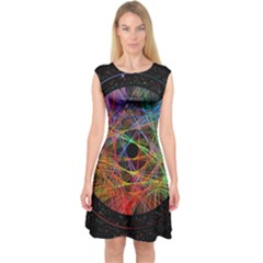 The Art Links Pi Capsleeve Midi Dress