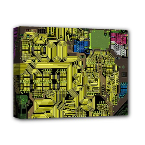Technology Circuit Board Deluxe Canvas 14  X 11