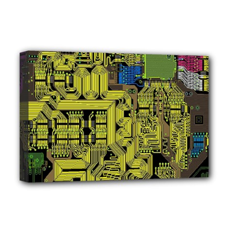 Technology Circuit Board Deluxe Canvas 18  X 12
