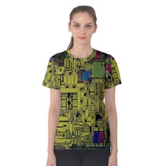 Technology Circuit Board Women s Cotton Tee