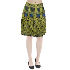 Technology Circuit Board Pleated Skirt