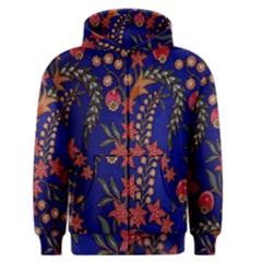 Texture Batik Fabric Men s Zipper Hoodie