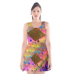 Technology Circuit Pentium Die Scoop Neck Skater Dress