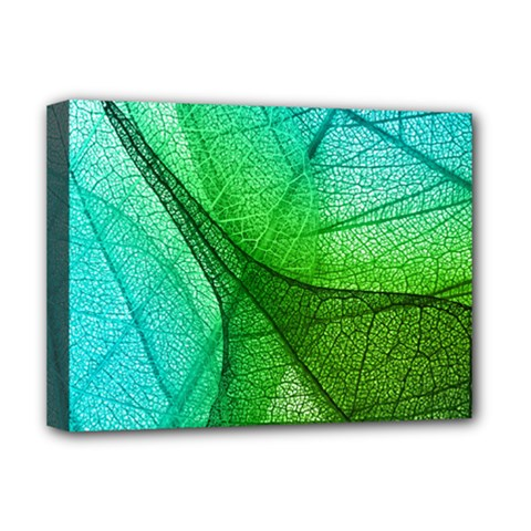 Sunlight Filtering Through Transparent Leaves Green Blue Deluxe Canvas 16  X 12