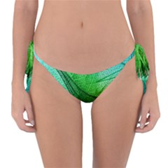 Sunlight Filtering Through Transparent Leaves Green Blue Reversible Bikini Bottom