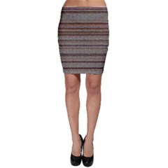 Stripy Knitted Wool Fabric Texture Bodycon Skirt