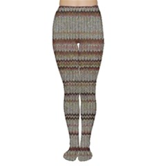 Stripy Knitted Wool Fabric Texture Women s Tights