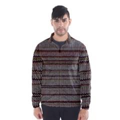 Stripy Knitted Wool Fabric Texture Wind Breaker (men)