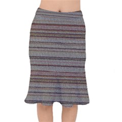 Stripy Knitted Wool Fabric Texture Mermaid Skirt